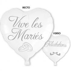 "Ballon Hélium ""Vive les Mariés"""