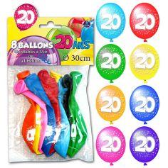 Ballons de Baudruche Anniversaire 20 ans