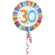 Ballon 30 Ans à Hélium Etoiles Scintillantes