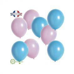 8 Ballons Annonce Sexe de bébé Roses & Bleus