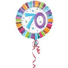 Ballon 70 Ans à Hélium Etoiles Scintillantes