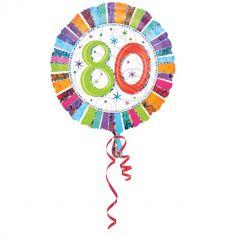 Ballon 80 Ans à Hélium Etoiles Scintillantes