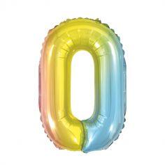 Ballon à air Chiffre Iridescent Arc-en-ciel - 40 cm - Chiffre au Choix