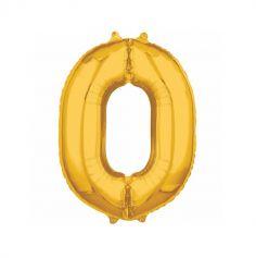 Ballon à air Chiffre Or - 40 cm - Chiffre au Choix