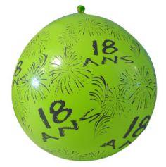 """Ballon de Baudruche Géant """"18 ans"""" 1 mètre - Coloris au choix"""
