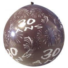 """Ballon de Baudruche Géant """"30 ans"""" 1 mètre - Coloris au choix"""