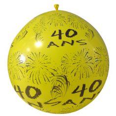"""Ballon de Baudruche Géant """"40 ans"""" 1 mètre - Coloris au choix"""