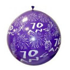 """Ballon de Baudruche Géant """"70 ans"""" 1 mètre - Coloris au choix"""