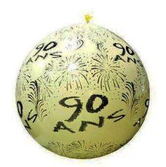 """Ballon de Baudruche Géant """"90 ans"""" 1 mètre - Coloris au choix"""