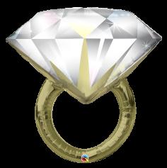 Ballon Métallique Hélium - Bague en Diamant