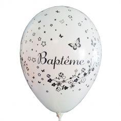 Lot de 8 Ballons Baptême Blanc Fille