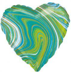 Ballon Coeur Marbre - 43 cm - Couleur au Choix