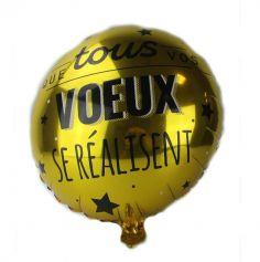 Ballon de 45 cm avec texte - Air / Hélium - Couleur au Choix
