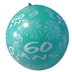 """Ballon de Baudruche Géant """"60 ans"""" 1 mètre - Coloris au choix"""
