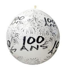"""Ballon de Baudruche Géant """"100 ans"""" 1 mètre - Coloris au choix"""