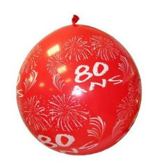"""Ballon de Baudruche Géant """"80ans"""" 1 mètre - Coloris au choix"""