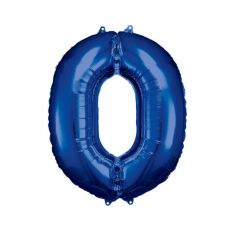 ballon geant aluminium helium bleu chiffre au choix | jourdefete.com