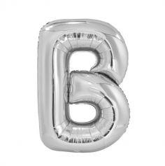 Ballon Géant Hélium - Lettre B - Argent
