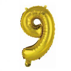 ballon geant aluminium helium or chiffre au choix | jourdefete.com