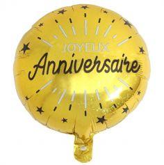Ballon Hélium Métallisé Joyeux Anniversaire Étincelant - Couleur au Choix