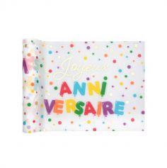 chemin de table joyeux anniversaire ballons multicolores | jourdefete.com