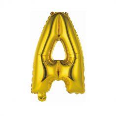 ballon metal a air couleur or lettre au choix | jourdefete.com