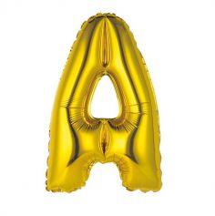 Ballon Métallique à Air - Or - 36 cm - Lettre au Choix