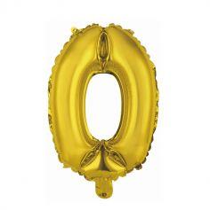 ballon metal a air couleur or chiffre au choix | jourdefete.com