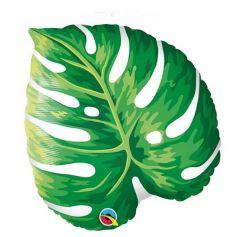 Ballon metallise - 53 cm - Feuille tropicale - gonflage a l'air ou a l'helium | jourdefete.com