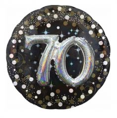 Ballon Métallique Hélium - 70 ans