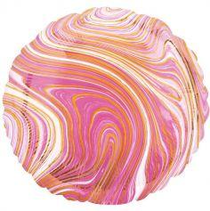 Ballon Rond Marbre - 43 cm - Couleur au Choix