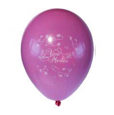 10 Ballons Vive les Mariés Couleur Rose Fuschia