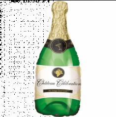 Ballon Métallique Hélium - Bouteille de Champagne