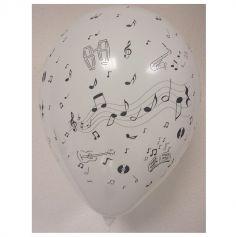 8 Ballons Notes de Musique