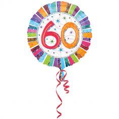 Ballon Hélium Anniversaire - 60 Ans