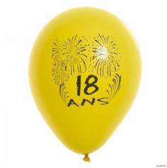 Ballons de Baudruche Anniversaire 18 ans