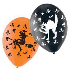 Ballons Halloween Sorcières et Chats