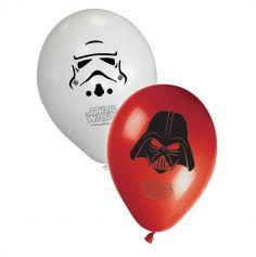 8 Ballons de Baudruche Star Wars® - Dark Vador et StromTrooper