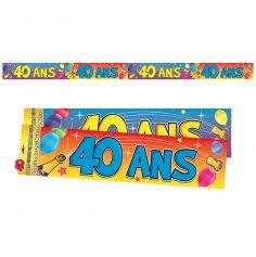 """Bannière """"40 ans"""""""