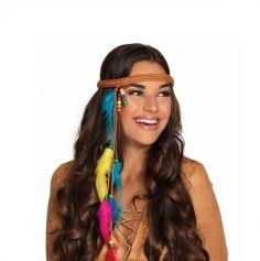 Bandeau Hippie avec Plumes Femme