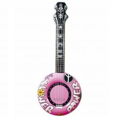 Banjo Gonflable Rose - 100 cm