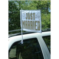 Drapeau de voiture - Just Married