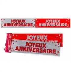 bannière-anniversaire-rouge-argent | jourdefete.com