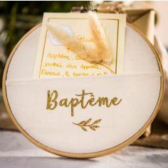 Cadre Pochette Végétale - Baptême