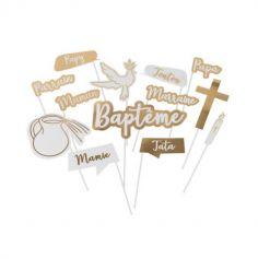 Kit Photobooth - 13 Accessoires - Baptême | jourdefete.com