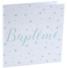 Livre d'Or Baptême - Vert Menthe | jourdefete.com