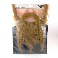"Set barbe et moustache ""Viking"" - Blond"