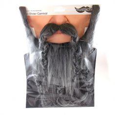 """Set barbe et moustache """"Viking"""" - Noir"""