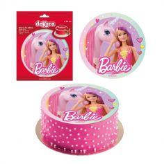 Disque en Azyme Barbie™ - 20 cm