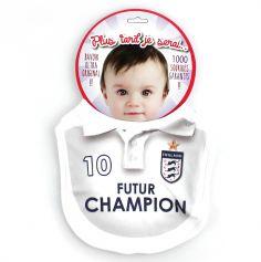 """Bavoir Football """"Futur Champion"""" - Angleterre"""